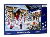 Snow Family 1000 Piece|House of Puzzles
